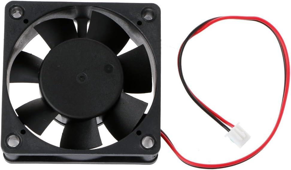 2 Pin PC CPU Brushless Cooling Fan 6020 DC 12V 60/×60/×20mm Cooler Heatsink Fast Heat Dissipation Case by FLYCHENGi