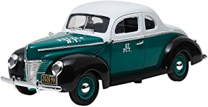 Greenlight 1940 Ford Deluxe Coupe NYPD, White 12972 - 1/18 Scale Diecast Model Toy Car