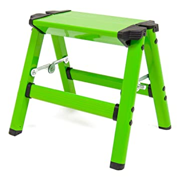 Excellent Wolf Aluminium Folding Step Up Ladder Stool With Non Slip Treads And Security Locks Ideal Multipurpose Work Platform Odd Jobs Diy Decorating Squirreltailoven Fun Painted Chair Ideas Images Squirreltailovenorg