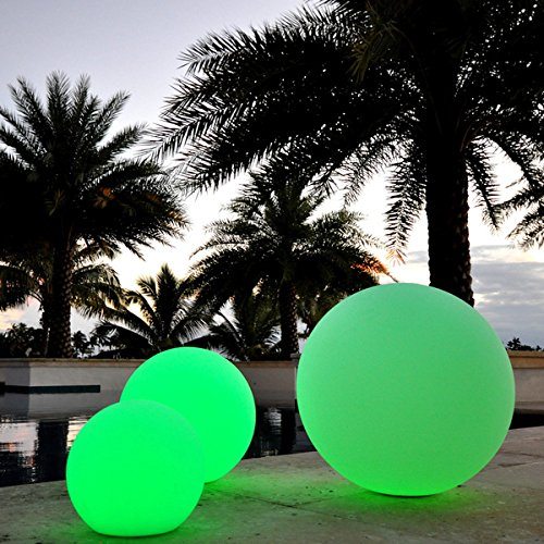 PublicLight LED Illuminated Orb Lights Floating Pool Balls/ Floor Lamps/ Hanging Lanterns 10 in. Diameter by PublicLight