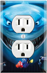 Graphics Wallplates - Finding Nemo Dory Shark - Duplex Outlet Wall Plate Cover