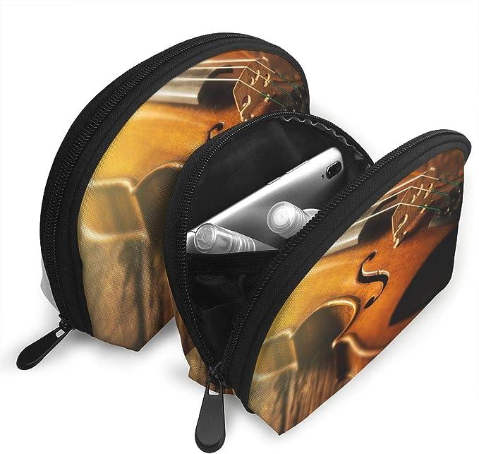 SouthZqB Stradivarius Violin - Juego de 2 Bolsas de cosméticos y Maquillaje: Amazon.es: Hogar
