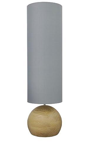Decorativa Lámpara de pie en madera 3 x E27 230 V Lámpara de ...