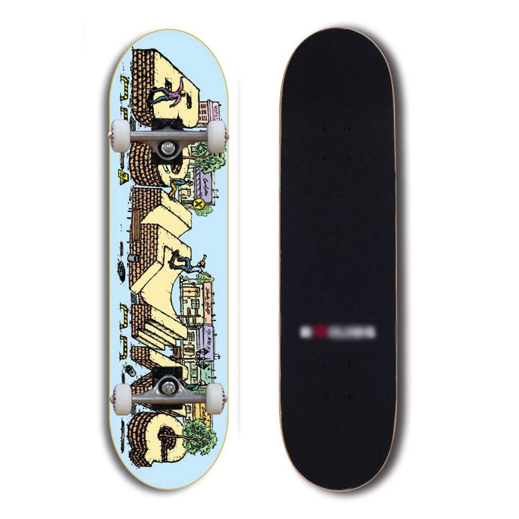 【2019春夏新作】 DUWEN スケートボードプロのダブルロッカースケートボード大人のカエデスケートボードティーン初心者ブラシストリート旅行スクーター (色 A DUWEN : B) B07NRJHQBL B07NRJHQBL A A, リデューカークリエーション:e024173b --- a0267596.xsph.ru