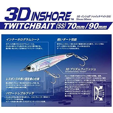 Yo-Zuri 3D Inshore Twitchbait Slow Sinking 3 1/2 Inch Lipless Crankbait