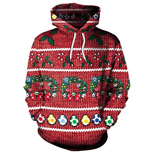 Bts Wearing Halloween Costumes (Haocloth 3D Print Hoodies For Women Digital Print Pullover Hoodie Hooded Sweatshirt Christmas Hoodies)