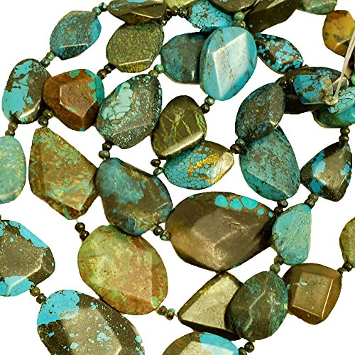 01 Turquoise Faceted Nugget 19-36mm for Necklace Gemstone Loose Beads 15