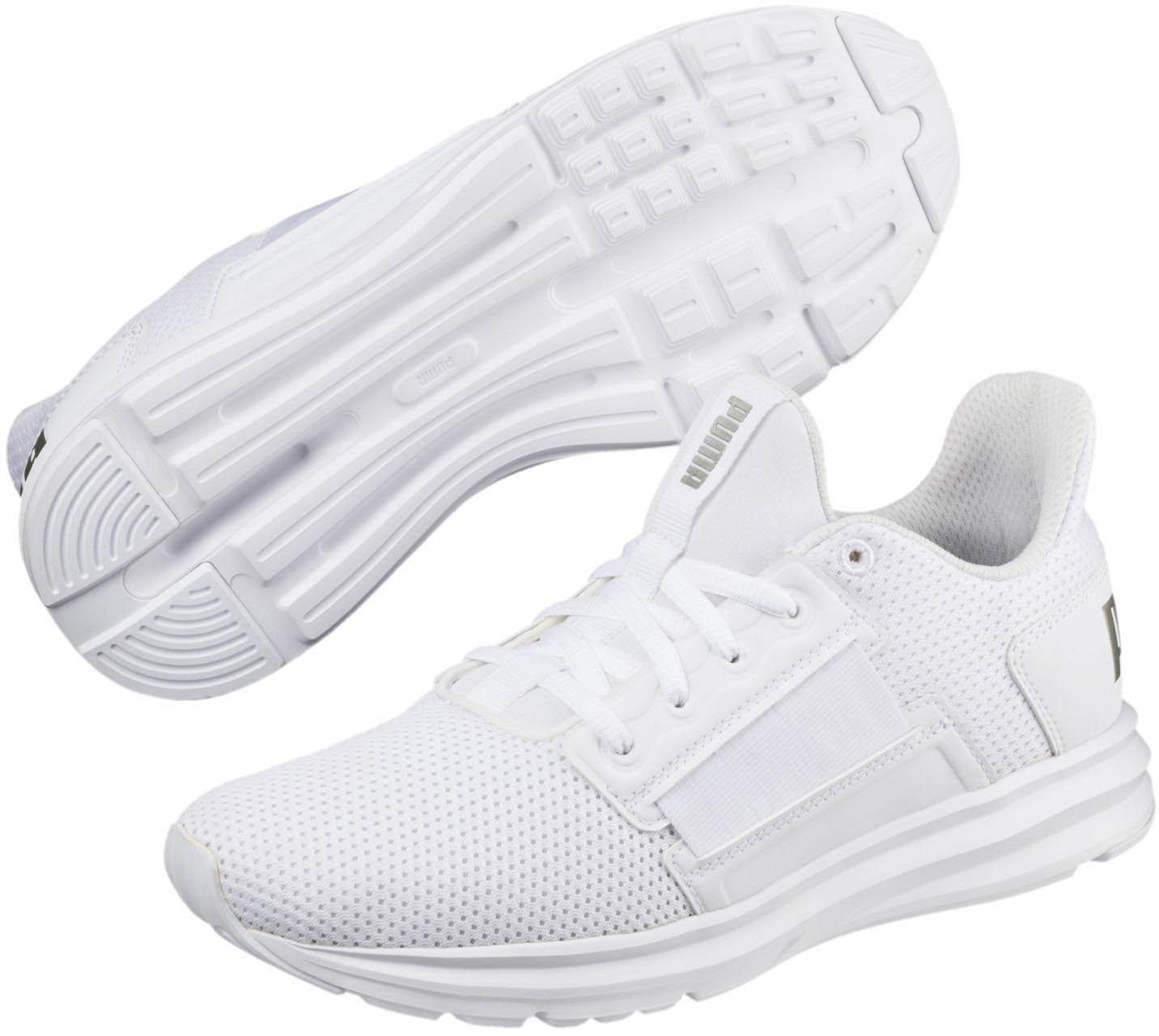 PUMA Women's Enzo Street Wn Sneaker B078C85Z5G 6 M US|Puma White-puma Silver