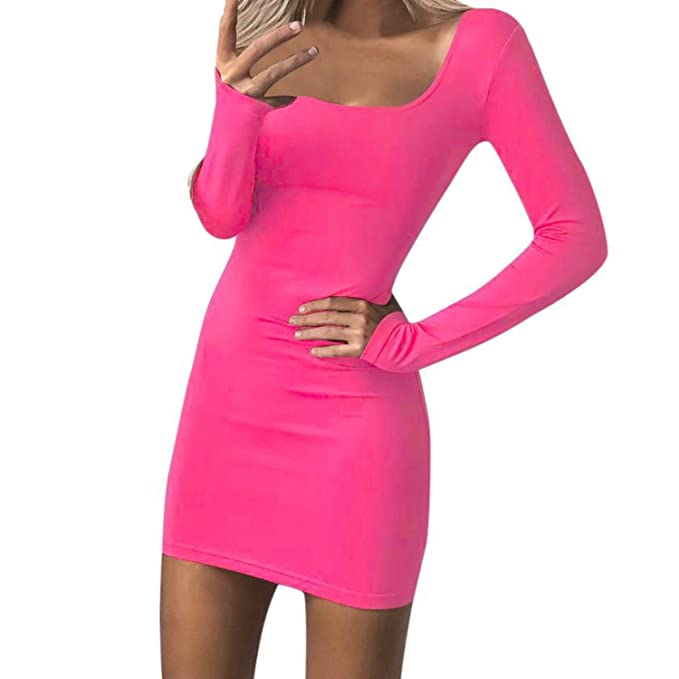 Vestidos 2018 New Womens Sexy Slim Bandage Dress Solid Spring Autumn Ladies Elegant Casual Long Sleeve