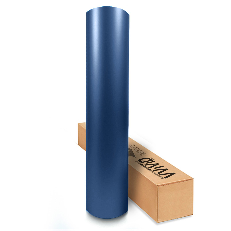 VViViD XPO Matte Metallic Navy Blue Vinyl Car Wrap Film Roll (50ft x 5ft (Full Car Wrap Roll))