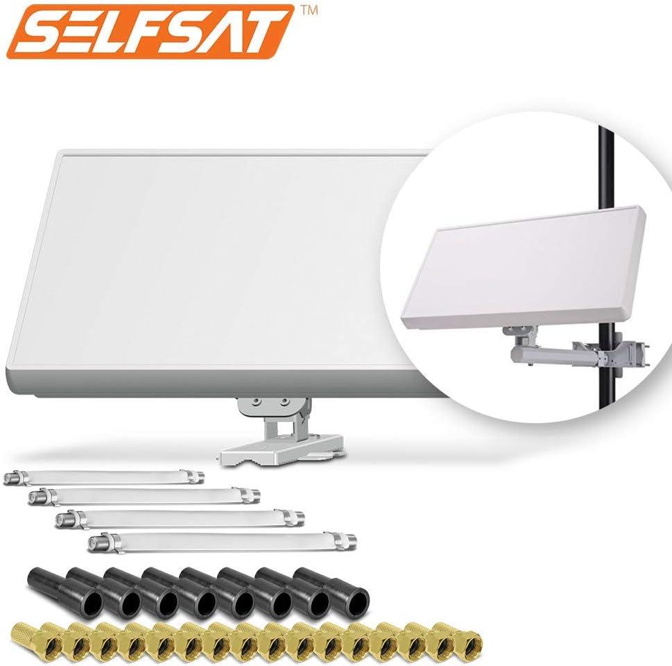 Selfsat H21D4+ - Antena plana para satélite (4 unidades ...