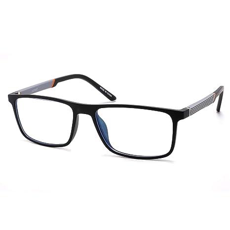 JAVIOL Gafas de computadora con bloqueo de luz azul Vintage TR90 Gafas de juego con marco negro para computadora/teléfono/almohadilla Antirreflejos ...