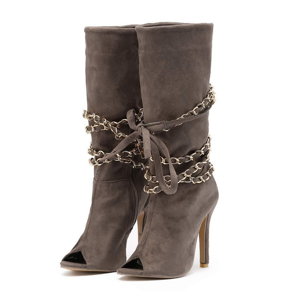 957fabf2eeeab CIELLTE Chaussures Bottines Femme Hiver Boots Bottes à Talon Huat Soirée  Chaussures de Ville Bout Pointu Casual Chic Mode Party Club  Amazon.fr   Chaussures ...