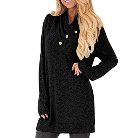 Amazon.com: ZJSWCP Sweatshirt Women Long Sleeve Sweatshirt Button Col Casual Tunic Tops Manteau Femme Hiver Sudaderas Mujer Shawn Mendes 5: Clothing