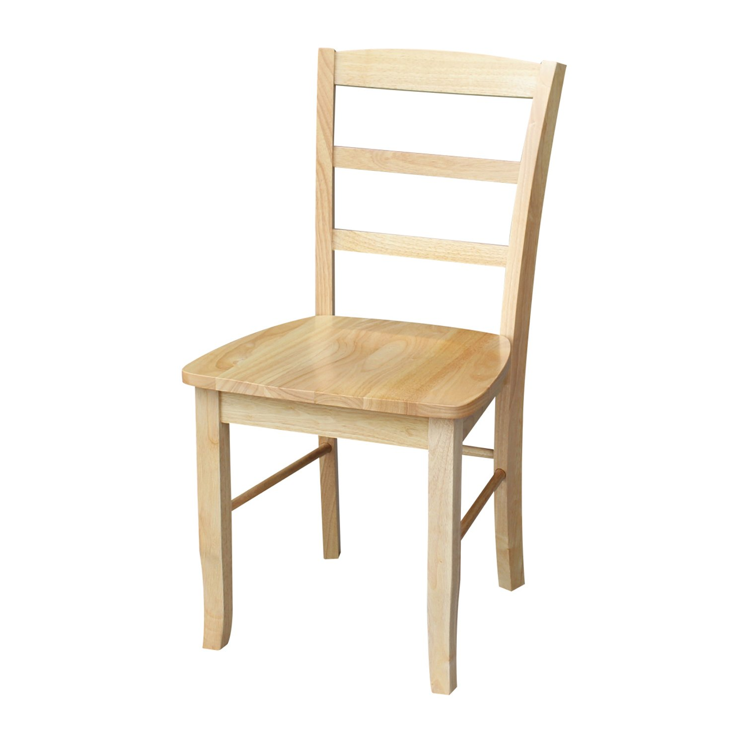 International Concepts C01-2P Pair of Madrid LadderBack Chairs, Natural