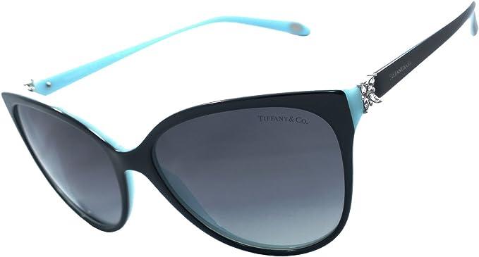 Amazon Com Tiffany Co Tf4089b 100 Authentic Limited Edition Women S Polarized Sunglasses Black Blue 8055 T3 Clothing