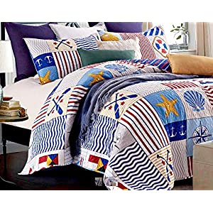 61yK2L03ClL._SS300_ Nautical Bedding Sets & Nautical Bedspreads
