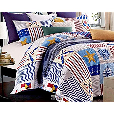 61yK2L03ClL._SS450_ 100+ Nautical Quilts and Beach Quilts