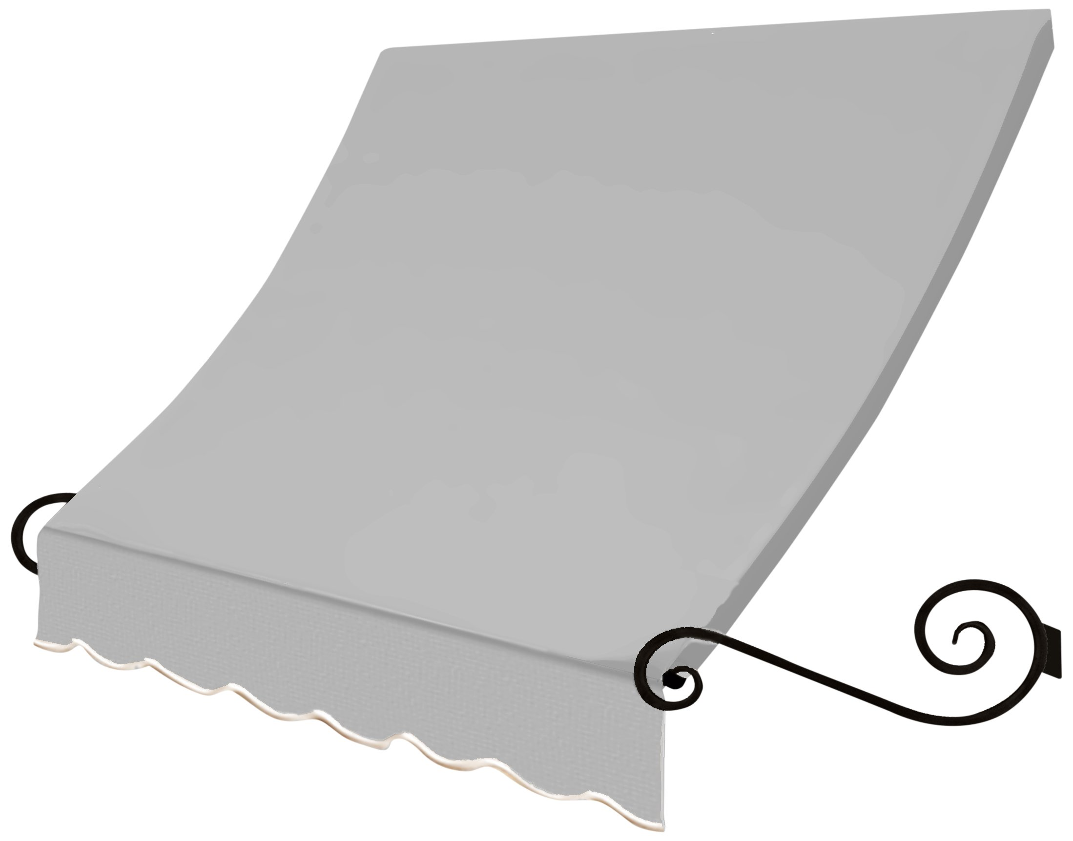 Awntech 5-Feet Charleston Window/Entry Awning, 31 by 24-Inch, Gray
