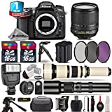 Holiday Saving Bundle for D7100 DSLR Camera + 650-1300mm Telephoto Lens + 18-105mm VR Lens + 500mm Telephoto Lens + Backup Battery + 1yr Extended Warranty + Flash - International Version