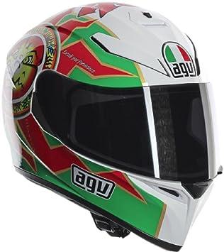 AGV K3 SV Imola 1998 Street Casco de moto para adulto, color rojo, verde