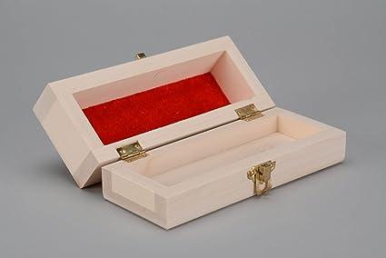 Caja para decorar con acabado interior de terciopelo