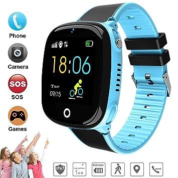 DUWIN Niños Inteligente Relojes, GPS Kids SmartWatch con Camara, Flash luz, SOS,