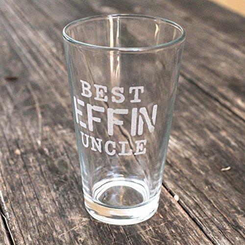 16oz Best Effin Uncle Beer Glass