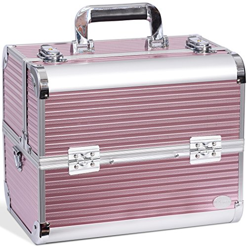 Joligrace Makeup Case Organizer Large Travel Cosmetic Storag
