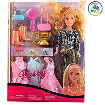 Smiles Creation Beautiful Fashion Doll Set with Outfit Accessories Toy for Kids