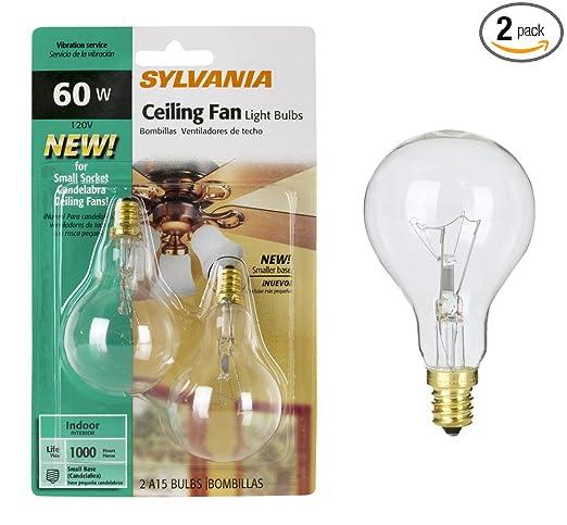 Sylvania Light Bulbs Customer Service: Sylvania 2-Pack 60 Watt A15 Ceiling Fan Light Bulbs - Ceiling Fan Lightbulbs  - Amazon.com,Lighting