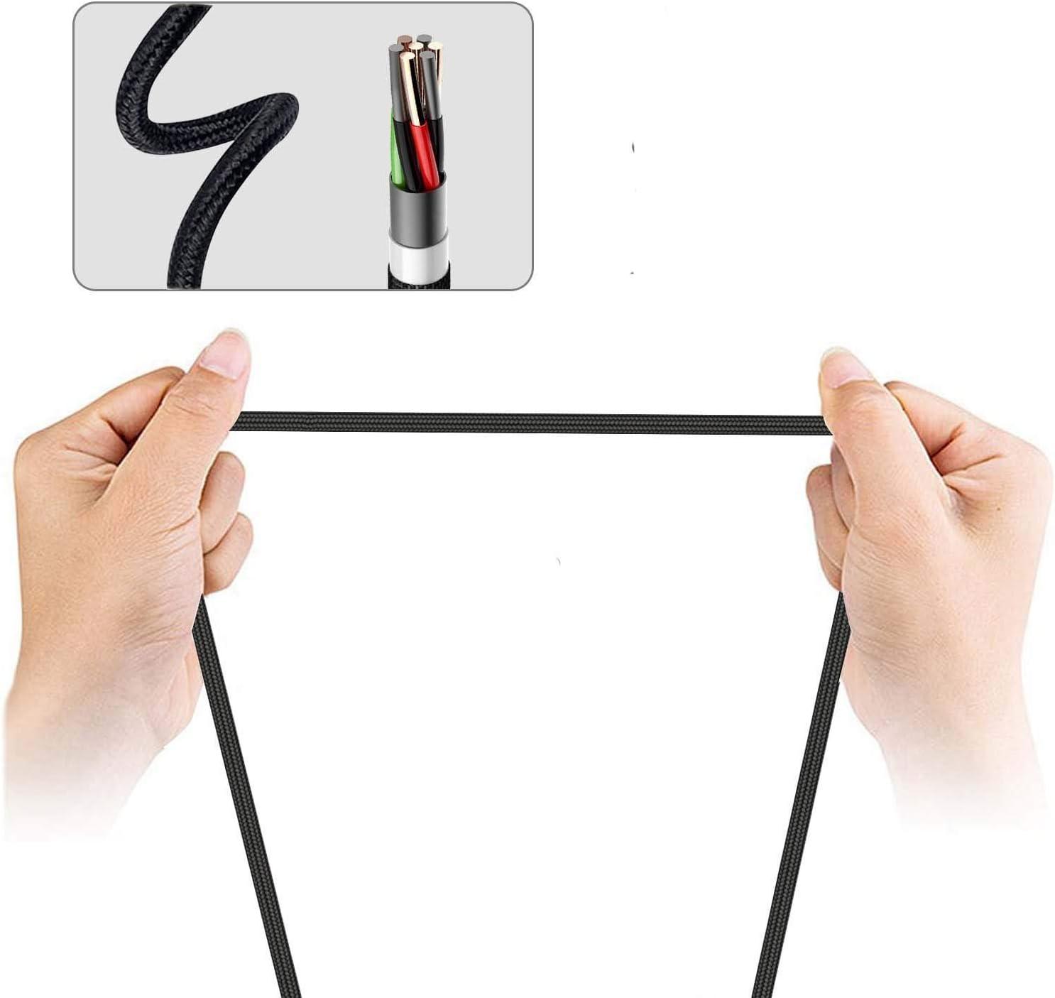 Amazon.com: eekiimy 2 paquetes 3 en 1 llavero cargador Cable ...