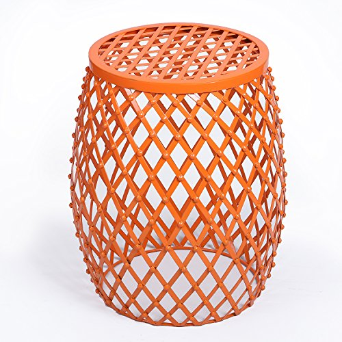 Joveco Stylish Metal Drum Wire Round End Table Side Table Sofa Table (Outdoor Round End Table)