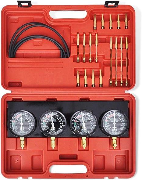 Synchrontester f/ür 4 Vergaser Synchrontestger/ät Vergaseruhren Synchronuhren PKW Motorrad Vakuumpr/üfer