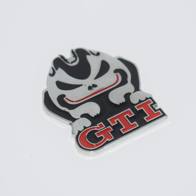 Gti Evil Rabbit Metal 3D Chrome Auto Adhesive Car Badge Decal Emblem Trunk Side Logo Replacement Sticker Alloy SAISDON 1 Piece
