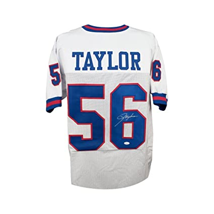 627efa908 Image Unavailable. Image not available for. Color  Lawrence Taylor  Autographed New York Giants Custom White Football Jersey - JSA COA
