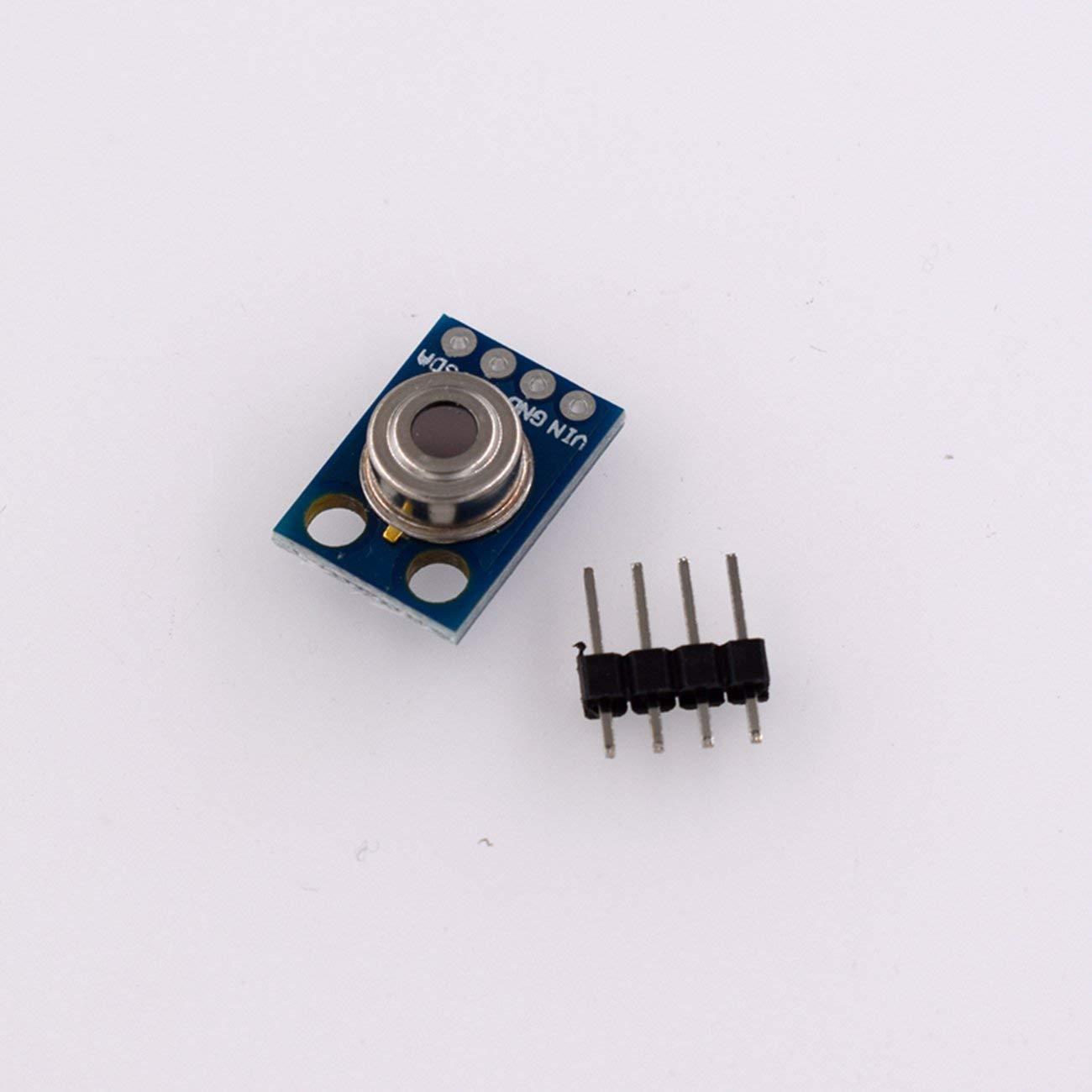 HW-691 GY-906 MLX90614ESF Modulo sensore di temperatura a infrarossi senza contatto Modulo multifunzione Scheda IIC I2C seriale per Arduino Blu