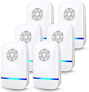sweethome123 Ultrasonic Pest Repell-er, 6 Packs, Electronic Plug in Indoor Pe st Repellent for Mosquito, Mice, Roach, Spider, Insects, Pe st Control for Home, Office, Warehouse, Hotel (6pack)