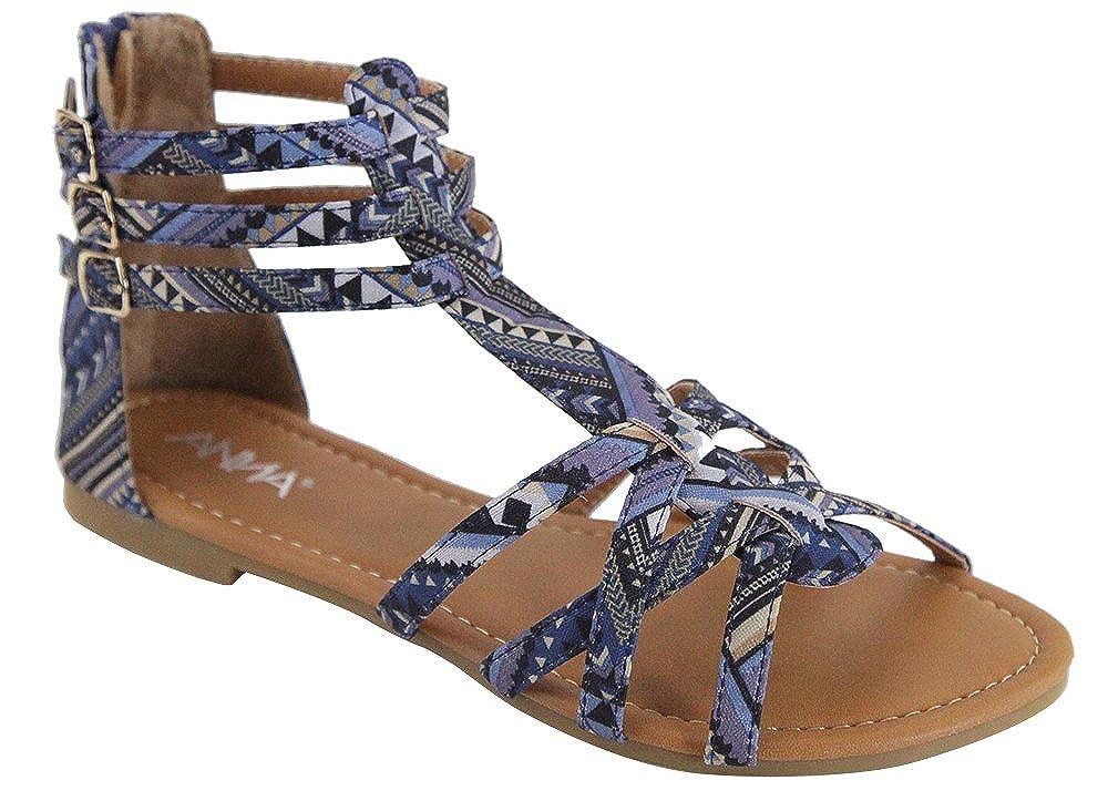 ANNA Mavis-8 Women Buckle Zip Gladiator Sandal
