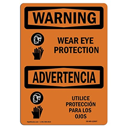 Letrero de advertencia de Osha, protección para los oídos ...