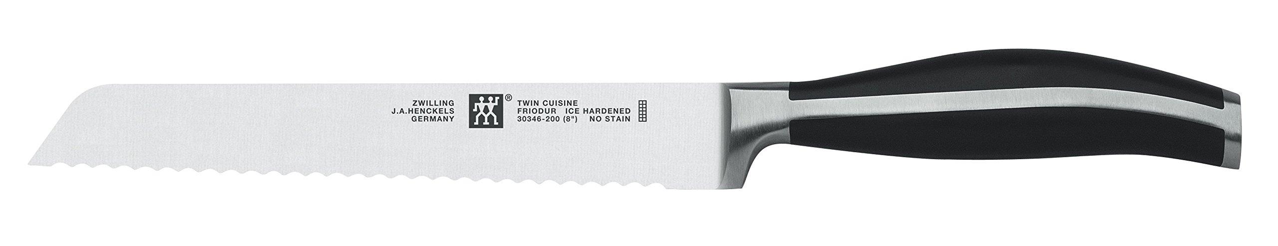 Zwilling 30346-201-0 Twin Cuisine Bread Knife, Silver/Black