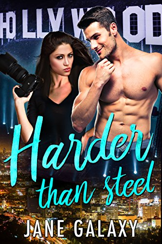 An interesting romance centered around a mega-popular movie star and a member of the paparazzi. Harder Than Steel (Super Stars Book 1) by Jane Galaxy