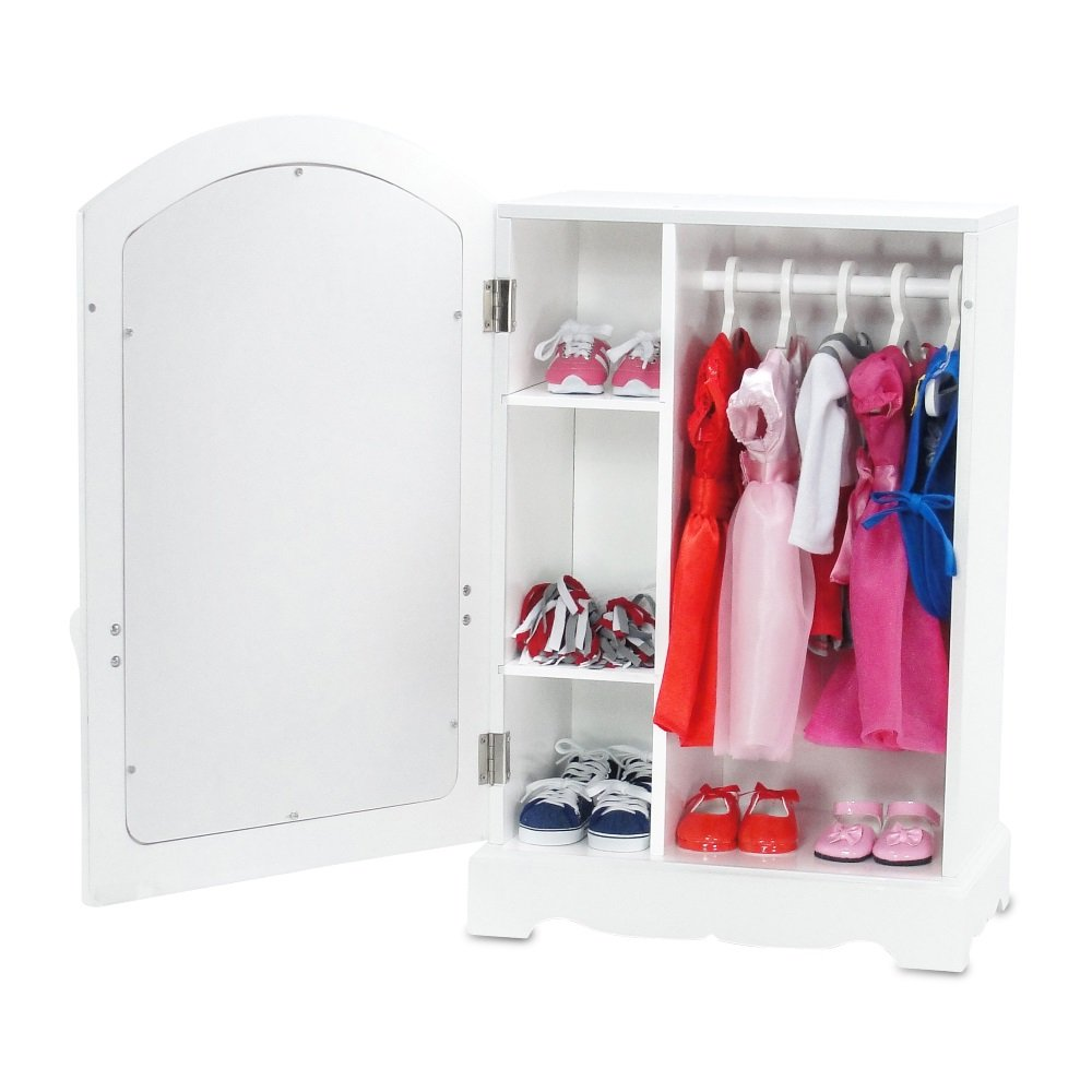 18 Inch Doll Furniture | Doll Clothes Dresses Armoire ...