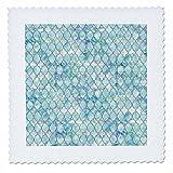 3dRose Uta Naumann Faux Glitter Pattern - Luxury Trendy Beach Sea Moroccan Arabic Quatrefoil Tile Pattern - 16x16 inch quilt square (qs_268954_6)