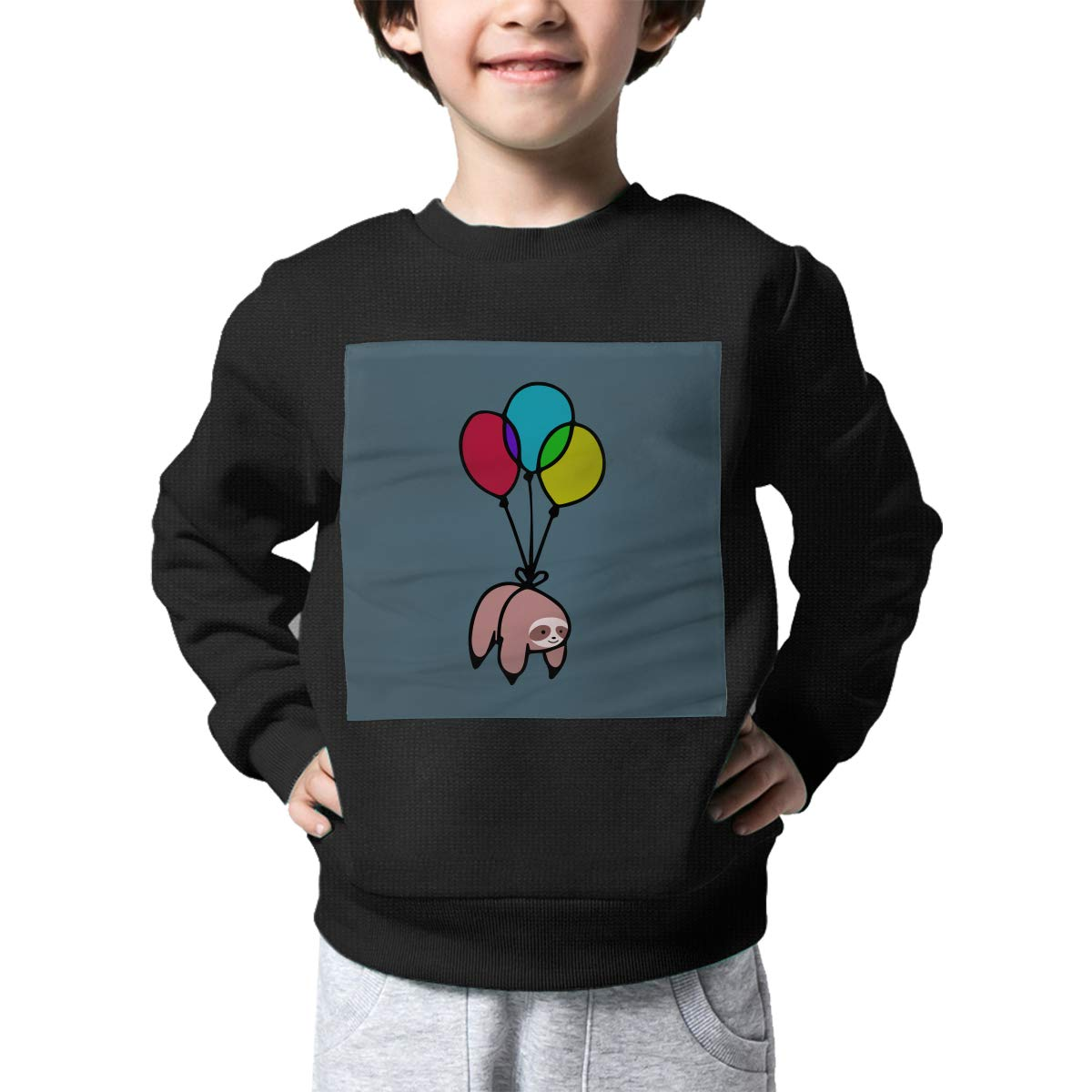 Balloon Sloth Print Toddler Kids Crew Neck Sweater Long Sleeve Warm Knit Sweater Jumper