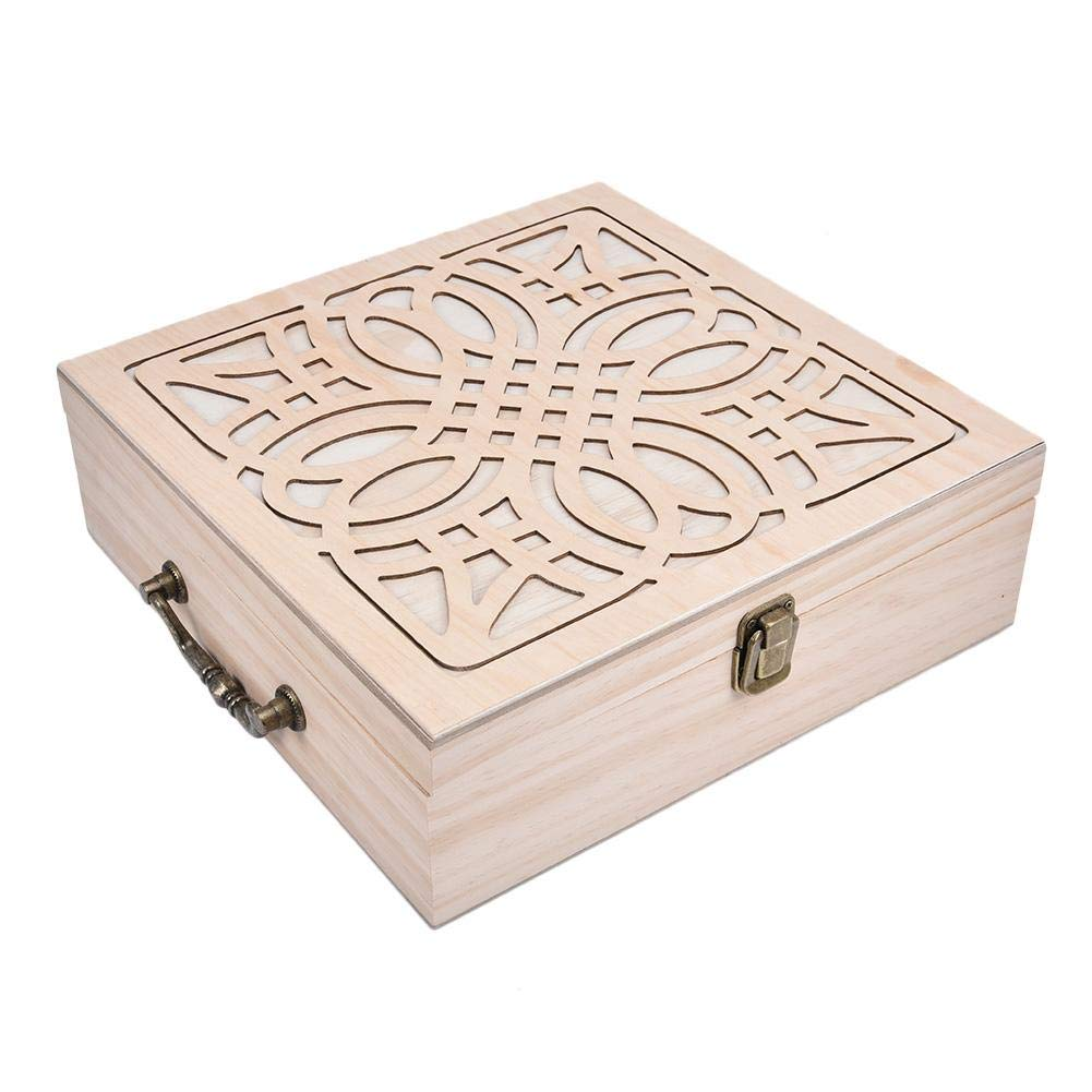 Essential Oils Storage Wooden Box - with 62 Slots for 5, 10, 15ml,115ml Bottles, Essential Oils Wooden Case Perfect for Display & Presentation by Wind-Susu