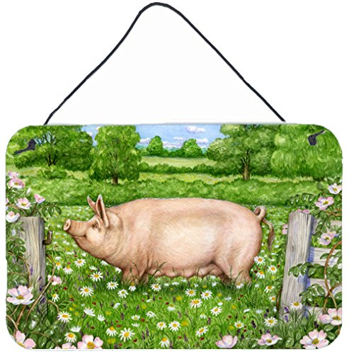 UPC 638508180612, Caroline's Treasures CDCO0374DS812 Pig In Dasies by Debbie Cook Wall or Door Hanging Prints CDCO0374DS812,Multicolor,8HX12W