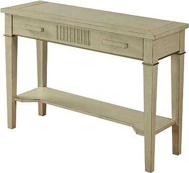 Urban Designs Inspiration 42 L Console Table Antique White Furniture Decor
