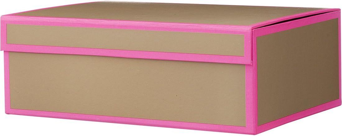 Caja de cartón con cierre magnético HEMA - 28 x 9 x 20 cm - color rosa: Amazon.es: Hogar