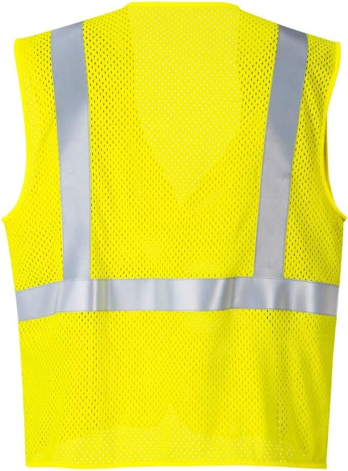 Neon Green Yellow XX-Large Breathable Reflective Mesh Safety T-Shirt Hi-Vis Azusa Safety ST-G2 XXL 01 High Visibility